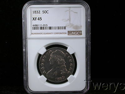 1832 Capped Bust Half Dollar Ngc Xf 45