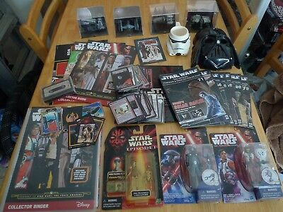 Star Wars 325 Mixed Items,Figures,Cards,Books,Starships & Vehicles items,Mask.