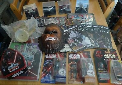 Star Wars 320 Mixed Items,Figures,Cards,Books,Starships & Vehicles items,Mask.