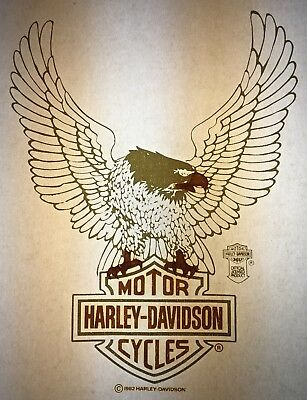 Harley Davidson Licensed 1982 Authentic retro tshirt transfer print new NOS