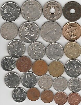 27 different world coins from FIJI some scarce