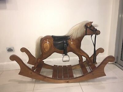 Hand Carved Wooden Rocking Horse