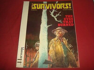 THE SURVIVORS Vol. 2  THE EYES THAT BURNED - Hermann Fantagraphics GN 1983