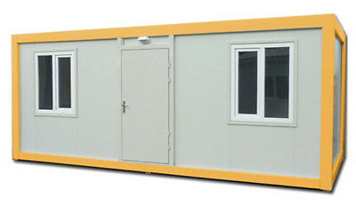 NEW Portable Flat Packed Cabin with bathroom 6 x 2.4m (20ft x 8ft) £4780.00+VAT