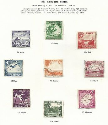 1963  Pictorial set 10 & 1965 Anzac Mint Hinged sold as per scans