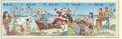 Palau 1993 Christmas Strip of 5 stamps complete MUH/MNH as Issued
