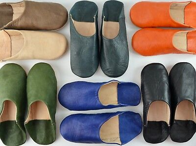 Mens Moroccan Leather Babouche Slippers Sheepskin Mahabis Mules *handmade*