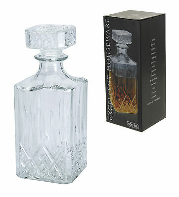 Glass Decanter Whiskey Sherry Brandy Liqueur Decanter