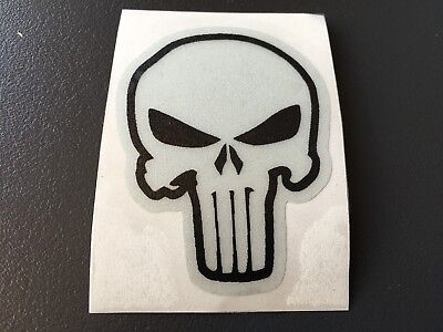 Decal Sticker Retro Reflective Punisher Skull Security Motorcycle Helmet Quad