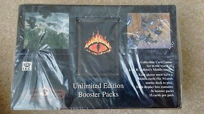 Sealed Middle Earth The Wizards  Unlimited Edition Booster Box Meccg Ccg Ice New