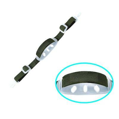 1X Universal Hard Hat Chin Strap with Black Elastic Strap and Chin Nice Pop~