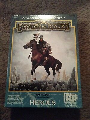 RAL PARTHA   AD&D FORGOTTEN REALMS, HEROES  EMPTY BOX x #10-550