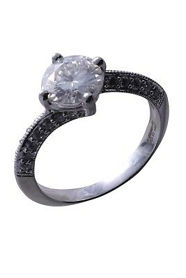 Forever Brilliant 1.27Ct Round Colourless Moissanite White Gold Engagement Ring