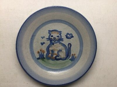 M. A. Hadley Country Scene Kitty Kat Salad Plate
