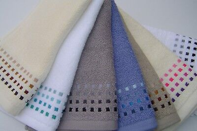 2  x  Guest Towels, Small Hand, Large Face Cloths, Travel Towels