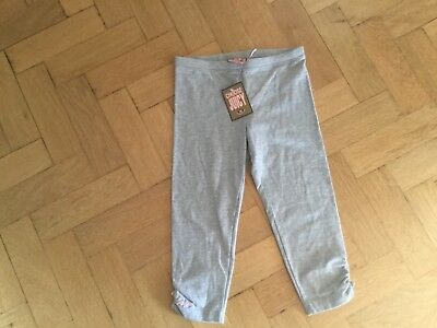 NWT Juicy Couture New & Gen. Girls Age 8 Grey Cotton Crop Leg Leggings & Logo
