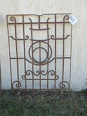 Antique Victorian Iron Gate Window Garden Fence Architectural Salvage Door #147