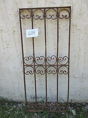 Antique Victorian Iron Gate Window Garden Fence Architectural Salvage Door #609