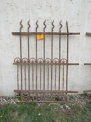 Antique Victorian Iron Gate Window Garden Fence Architectural Salvage Door #305