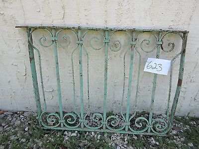 Antique Victorian Iron Gate Window Garden Fence Architectural Salvage Door #623