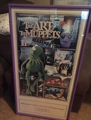 *RARE* Original Art Of The Muppets Touring Exhibition Poster 1984 VINTAGE HTF