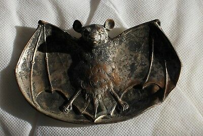 Antique RHC Hardware Bat Tray Cardholder Ashtray BRONZE - BRASS Bradley Hubbard