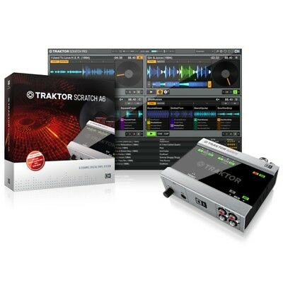 Native Instruments Traktor Scratch A6 DVS Interface & Control CD's and Vinyl