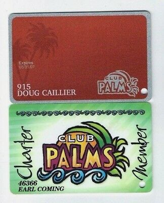 LOT of 2 PALMS Las Vegas CASINO Slot Card / Players Club CHARTER - Possibly 1st