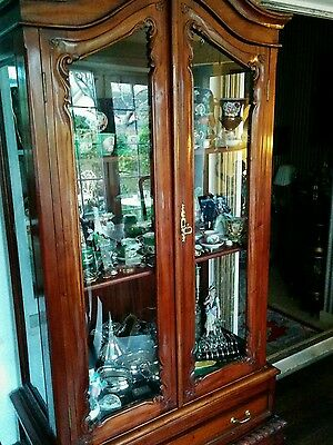 French Amoire Cabinet Style Repro Cabinet With Glass Doors- Buyer Must Collect