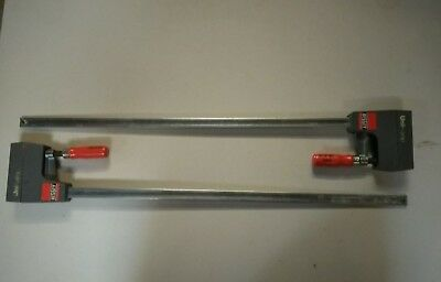 Pair of clamps BESSEY UNIKLAMP UK60 600 x 80 Used but in full working condition