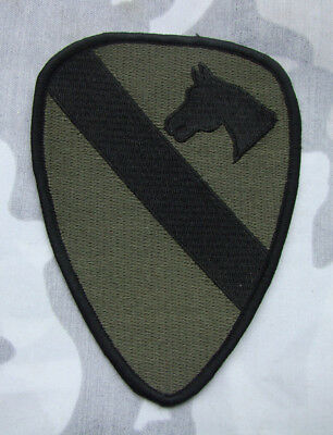 Wwii Us Army 1St Calvary Shoulder Horse Embroidery Green Patch -2085