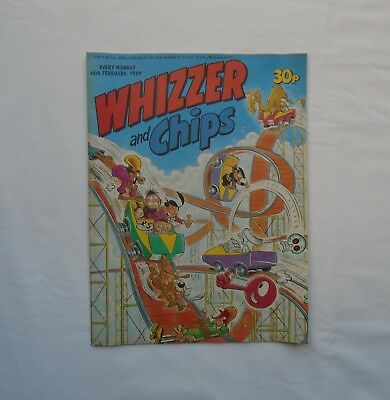 Whizzer and Chips Comic 18th February 1989 - Bumpkin Billionaires / Sammy Shrink