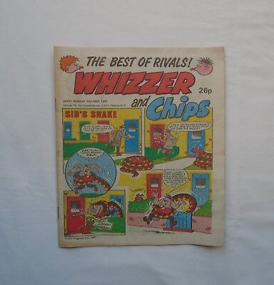 Whizzer and Chips Comic 30th May 1987 The Best Of Rivals! - Sid's Snake / Joker