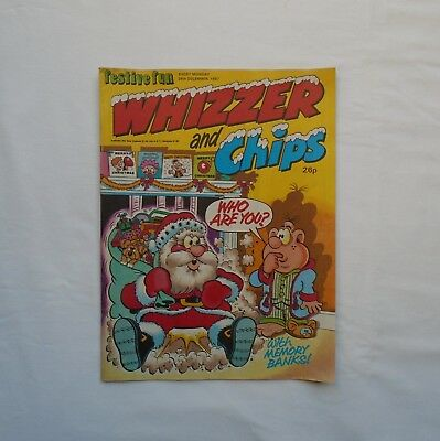 Whizzer and Chips Comic 26th December 1987 - Memory Banks/Lazy Bones/Sid's Snake