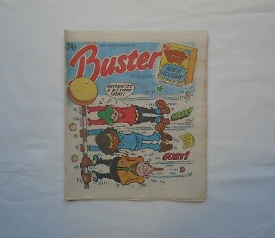 Buster Comic 7th March 1987 - Ivor & Tony / Chalky / Jack Pott /Faceache /Prambo