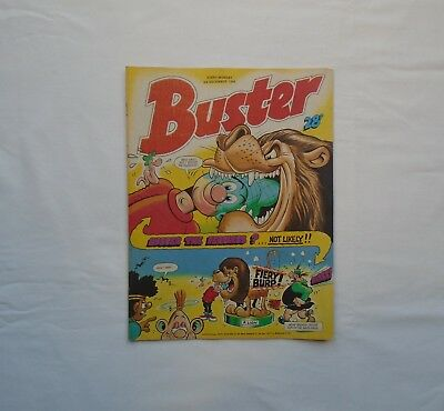 Buster Comic 3rd December 1988 - Ivor & Tony / School Belle / My Dad Mum /Chalky