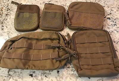 Lot US Military SPEC-OPS MOLLE Coyote Pouches