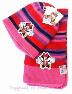 MINNIE MOUSE CAPPELLO + SCIARPA BAMBINA by DISNEY A FASCE COLORATE