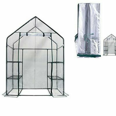3 Tier 6 Shelf Walk In Green House Replacement Cover Clear Color Reinforced NEW