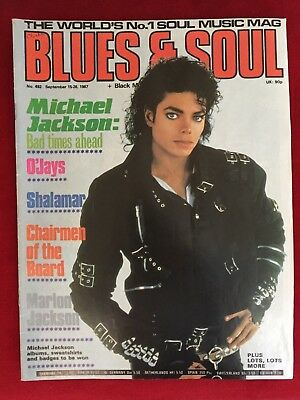Rare Michael Jackson Blues & Soul Music 1987 Magazine