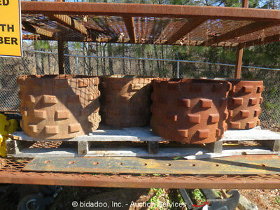 """Lot of (4) 20.5"""" Trench Roller Pad Foot Walk Behind Compactor Drums"""