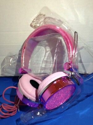 New Juicy Couture Glamour Pink Gen Headphones Rhinestone Bling Valentines Day