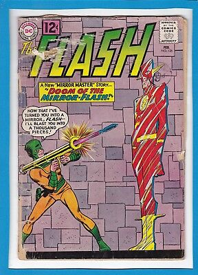 """The Flash #126_February 1962_Good+_""""doom Of The Mirror-Flash""""_Silver Age Dc!"""