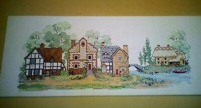 Vintage Hand Embroidered Picture Panel