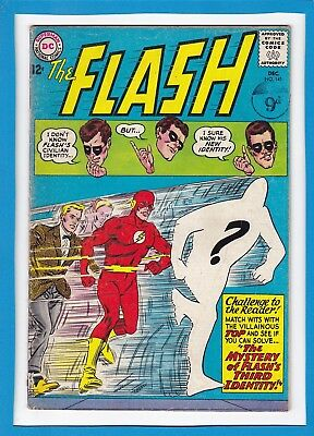 """The Flash #141_December 1963_Very Good+_""""flash's Third Identity""""_Silver Age Dc!"""
