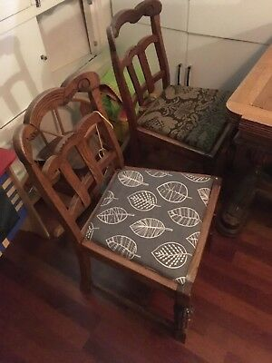 antique, vintage, Victorian mahogany table with 4 chairs
