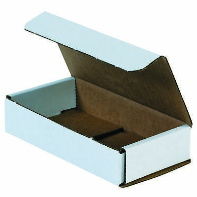 "Box Partners Corrugated Mailers 10"" x 6"" x 2"" White 50/Bundle M1062"