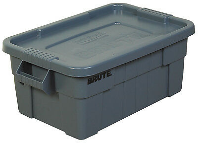 """Brute Totes with Lid 28"""" x 18"""" x 11"""" Gray 1/Each RUB115"""
