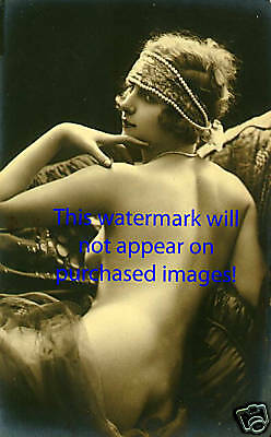 Old VINTAGE Antique FRENCH NUDE ART DECO Photo Reprint