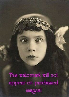 Old VINTAGE Antique CRAZY EYED GYPSY  Photo Reprint